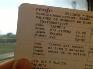 Bahn statt Flieger, Madrid statt Malaga