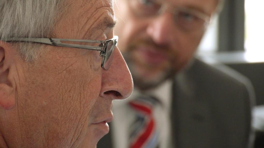 Zwei Größen der Politik: Jean-Claude Juncker (links) und Martin Schulz