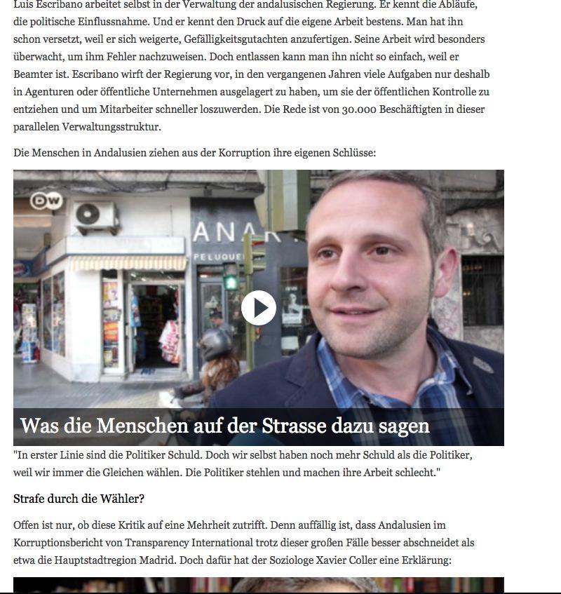 Ausschnitt Website dw.de